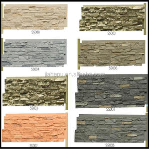 waterproof interior and exterior decorative polyurethane/PU foam faux stone panels with grey painting color
