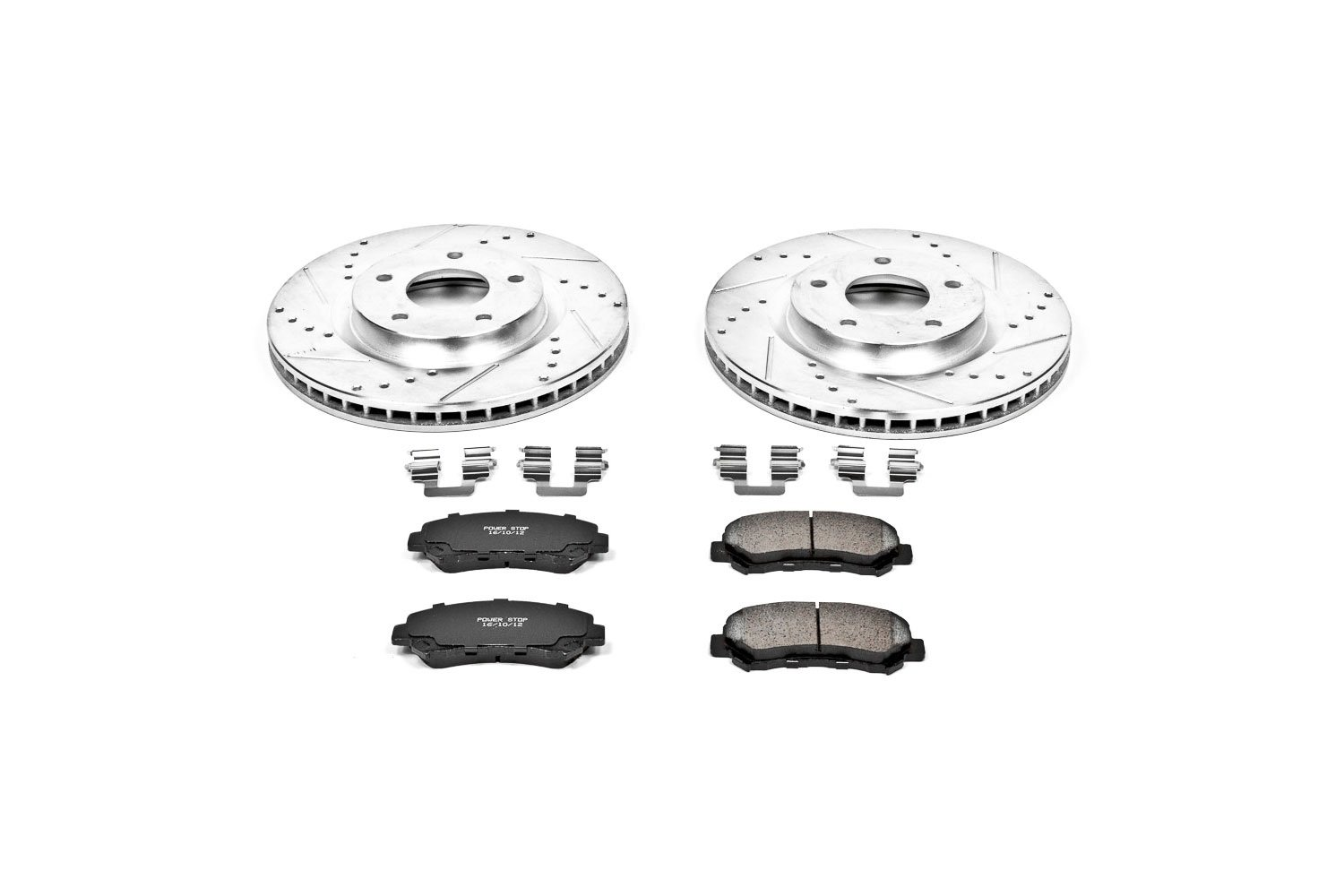 Power Stop K5088 Front Brake Kit with Drilled//Slotted Brake Rotors and Z23 Evolution Ceramic Brake Pads