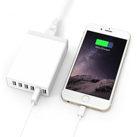 Multi 6 USB Ports Home Travel Charger 60W 12A Power Adapter for Mobile Phone and more usb devices
