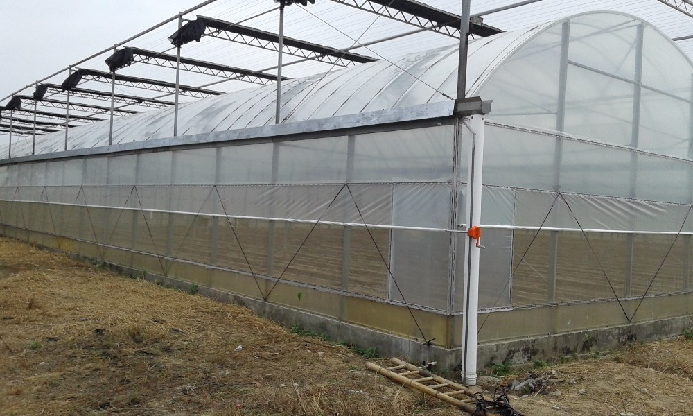 Installing double layer greenhouse plastic how to fill large cracks in concrete