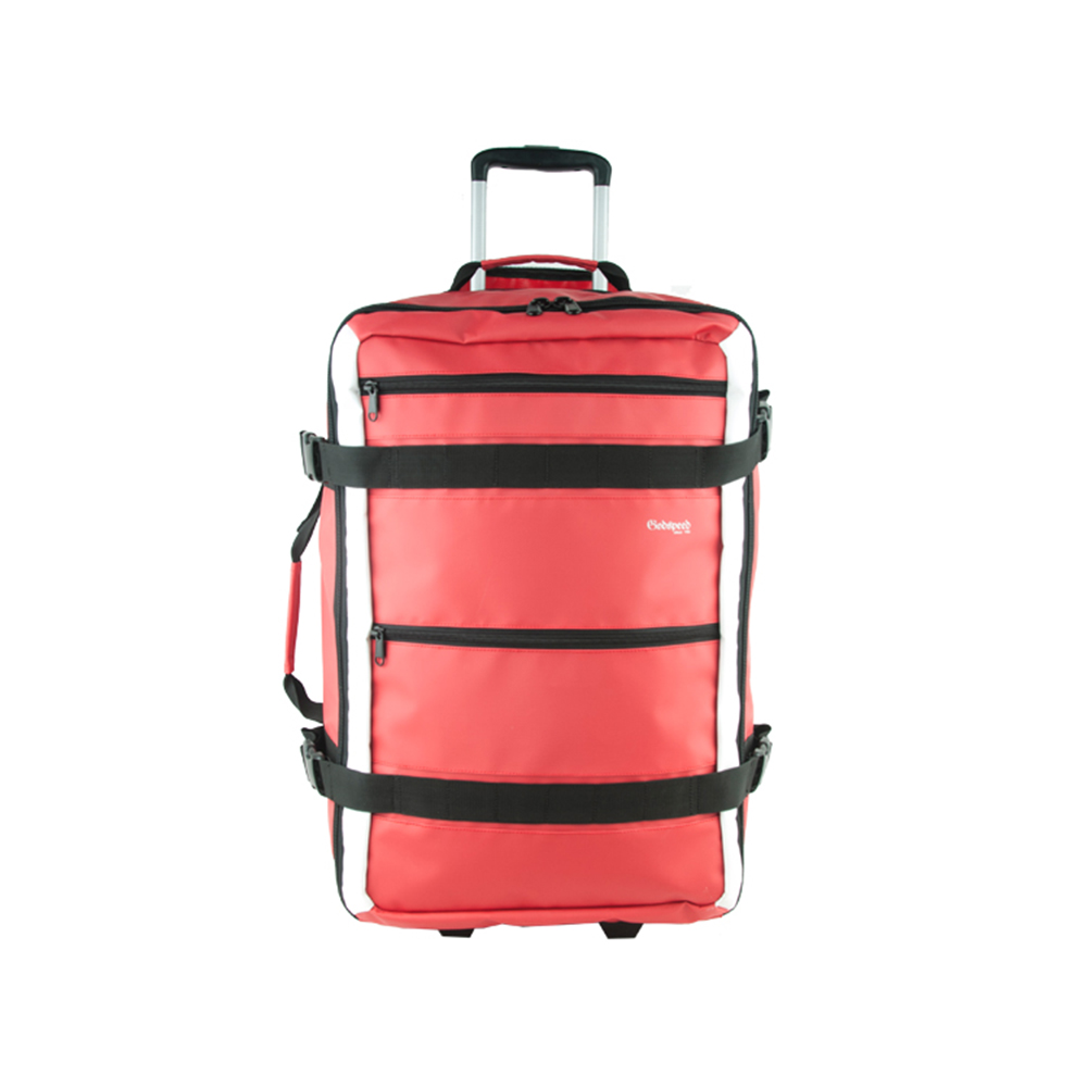 Hot selling 500D tarpaulin waterproof travel luggage with wheels