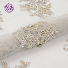 New arrival Good price High quality mesh sequined bridal beaded lace fabric for party dress