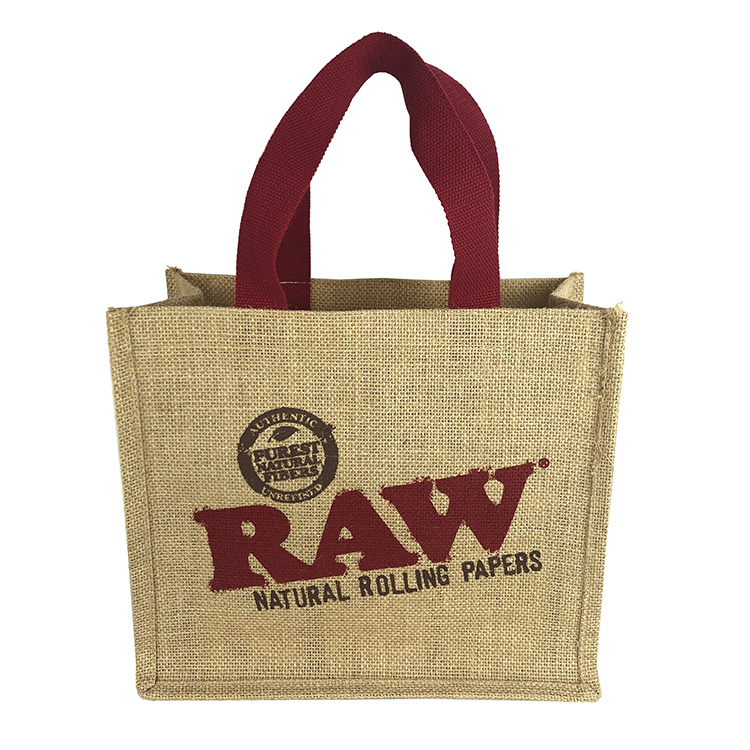 Cheap Natural Recycle Foldable Carry handle woven hessian linen Jute Shopping Bags Manufacturer