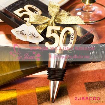 50th Wedding Anniversary Wine Bottle Stopper Favor 50th Birthday ...