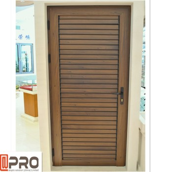 Fixed Aluminum Exterior Glass Louvered French Folding