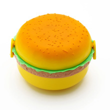 650 ml Mooie promotie populaire multi-layer plastic kids hamburger lunchbox