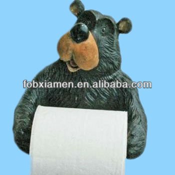 Bear Shaped Toilet Paper Roll Holder Animal