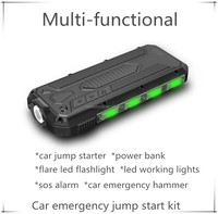 portable 14v car jump starter with emergency tool in one body