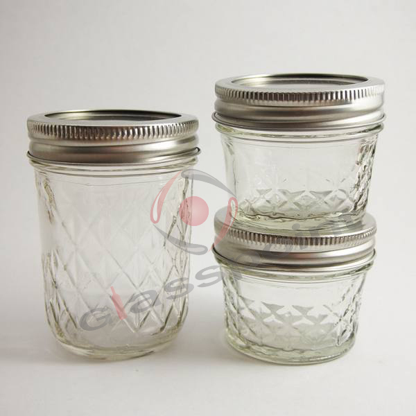 4-oz Quilted Crystal Jelly Jars,Glass Jar For Jelly,Taper Shape ... : ball 4 oz quilted jelly jars - Adamdwight.com