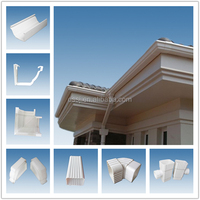 White pvc rain gutters (made in china)