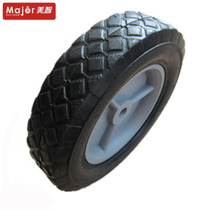 8 inch lawn mower trolley tire solid rubber wheel for micro tillage dehumidifier