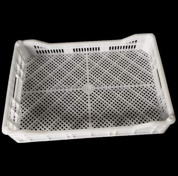 white plastic fruit crate strawberry