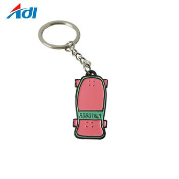 cheap wholesale custom enamel cute pencil souvenir keychain
