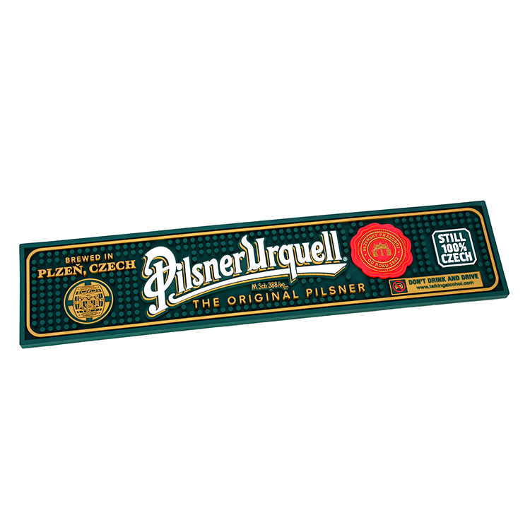 Australia Beer Promotional Bar Mat Rubber Bar Rail Mat Wholesales