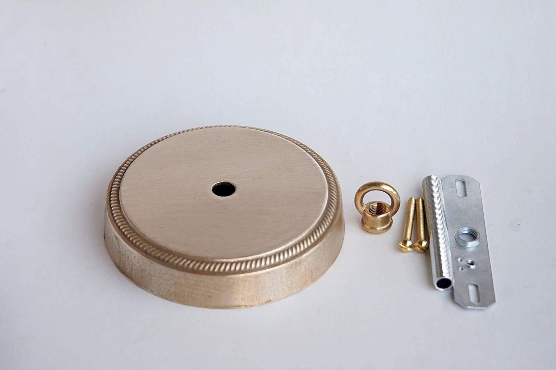 "Orange design Chandelier Unfinished Solid Casting Brass Canopy, Diameter 4-3/4"""