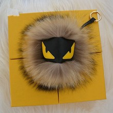 Little monsters fox fur accessories lovely bags hang hang act the role of key chain fur hair bulb pendant