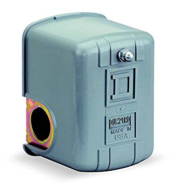 Square D by Schneider Electric 9013FYG2J25 Air-Pump Pressure Switch, NEMA 1, 60-80 psi Pressure Setting, 20-65 psi Cut-Out, 15-30 psi Adjustable Differential