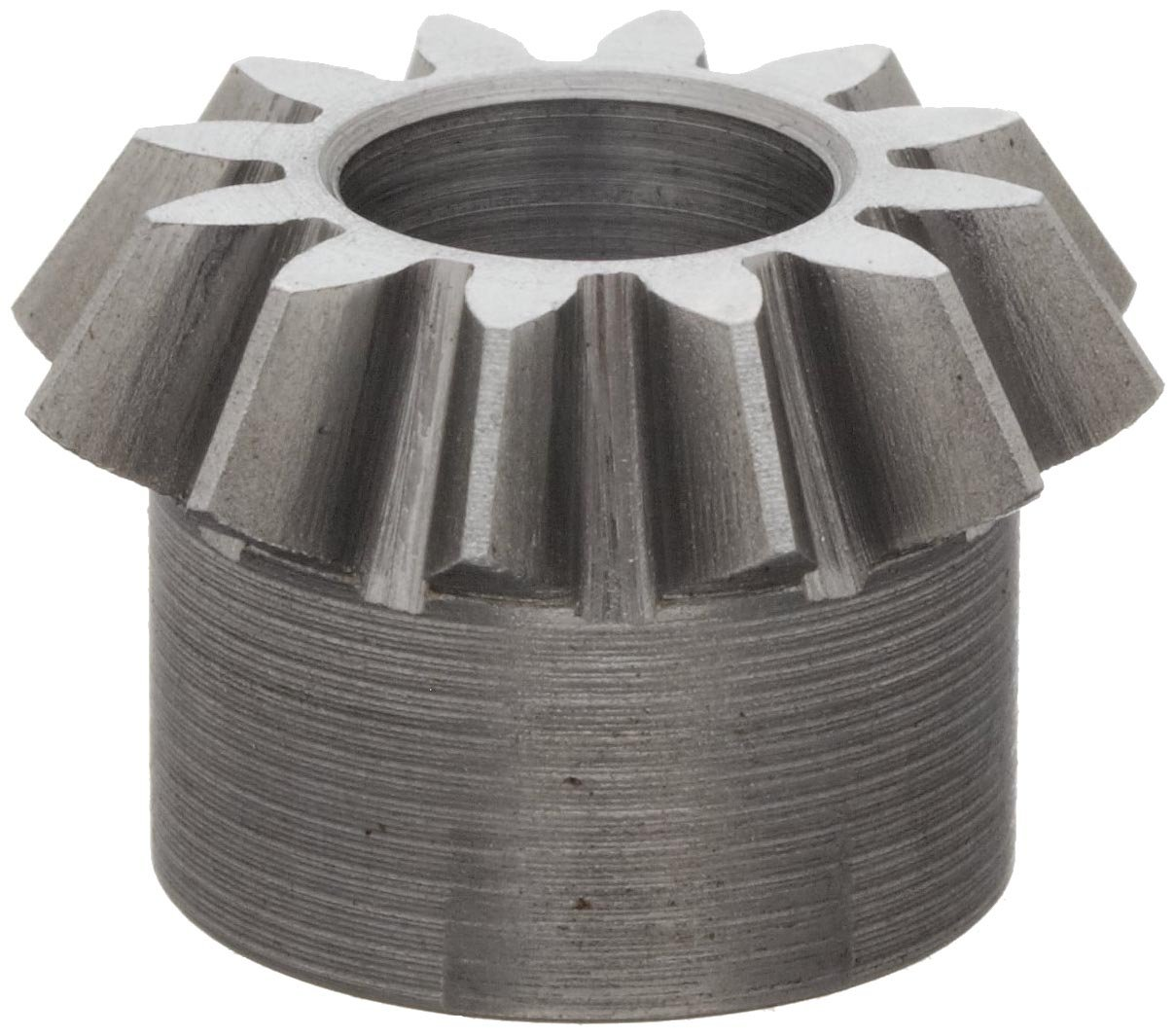 "Boston Gear L148Y-P Bevel Pinion Gear, 2:1 Ratio, 0.375"" Bore, 16 Pitch, 12 Teeth, 20 Degree Pressure Angle, Straight Bevel, Steel"