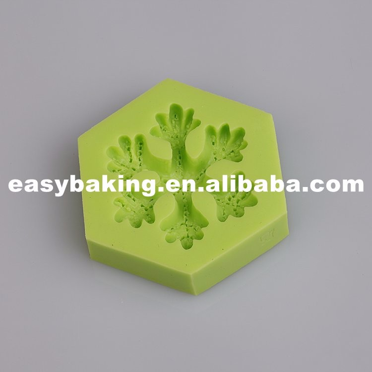 Food Grade Snowflake Silicone Molds for cake decorating