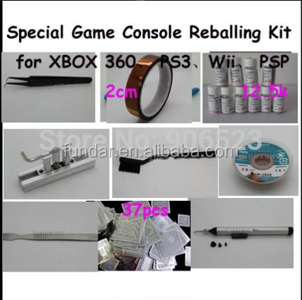 Free Shipping 9 in 1 BGA Reballing Kit Special Game Console Reballing Kit for XBOX 360 for PS3 for Wii for PSP BGA Reballing