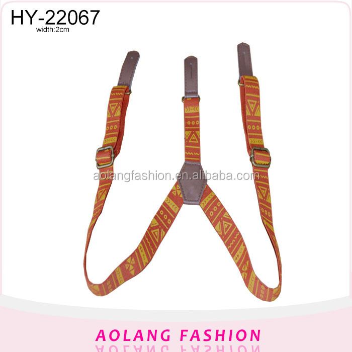 Fashion Best Price Custom brand priting pattern Suspender Belt for Men women
