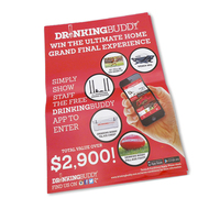 Customized size Paper Card High Quality Promotion Flyers/leaflet Printing