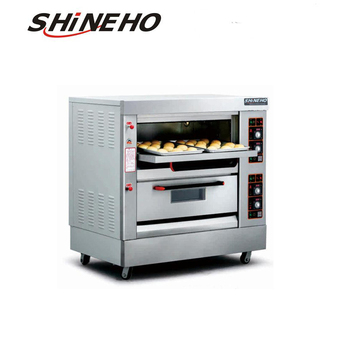 Double Layers Time Controller Baking Bread Gas Deck Oven/bakery stove for sale
