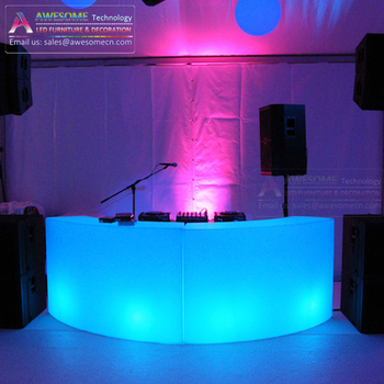 Portable Dj Table Stands Acrylic Led Light Booth Bc140
