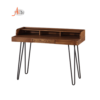 Cheap study table on sale Langfang multifunction metal leg corner computer desk table pictures with drawer