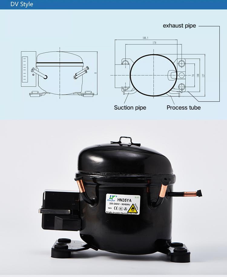 HN35YA Mini DC Kulkas Kompresor Kulkas R600a