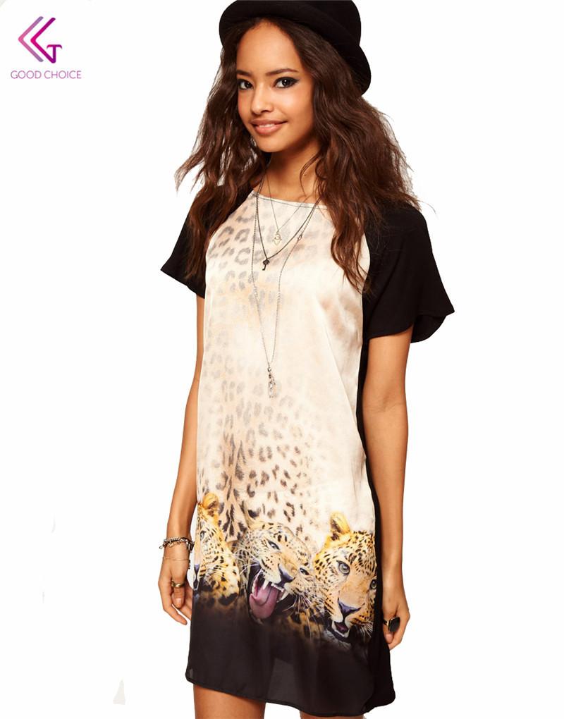 f7ffcfe01e4b leopard dresses Plus size short leopardo Sleeveless Vintage dress Mini sexy  Casual Dresses Women summer style roupas femininas