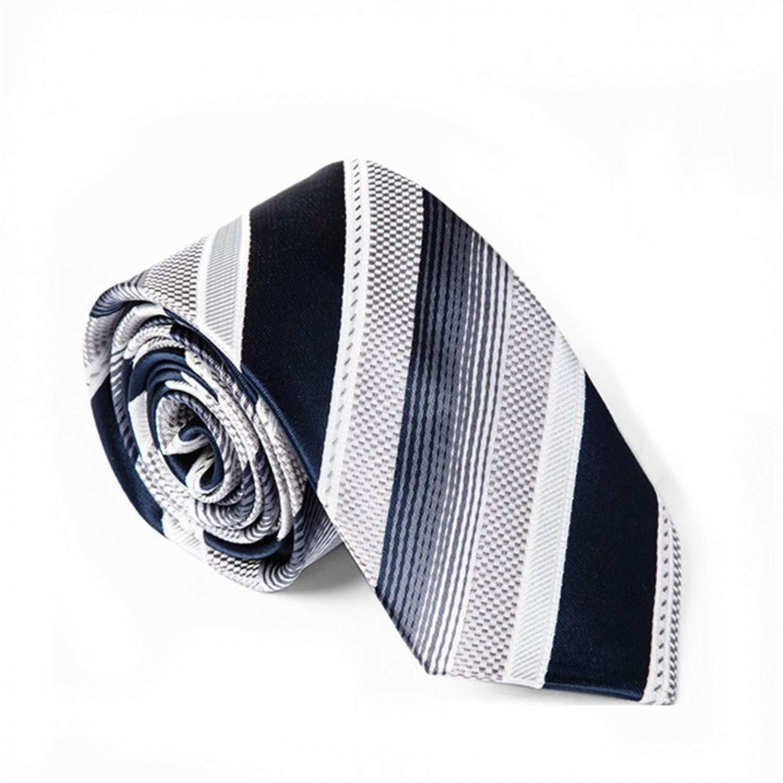 61f2a8523e4 Get Quotations · Z-P Mens Neck Ties Gradient Stripes Jacquard