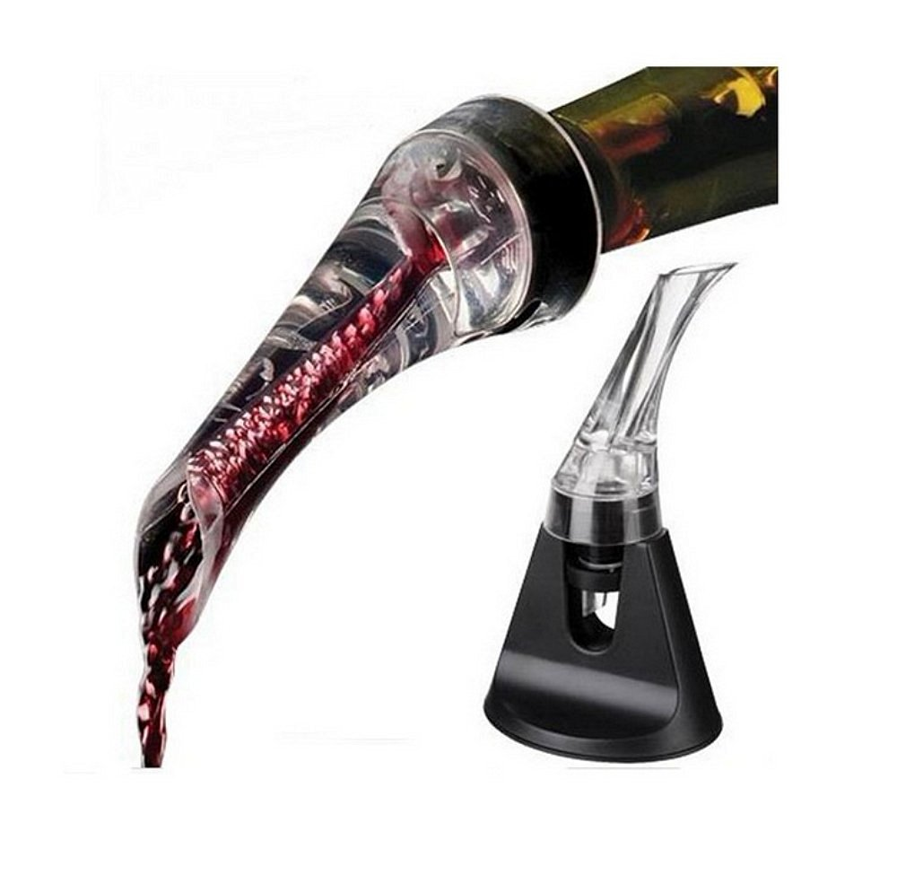 Tila Wine Aerator Pourer with Stand-Premium Travel Size Wine Aerator Decanter Spout and Drip-Free Pourer