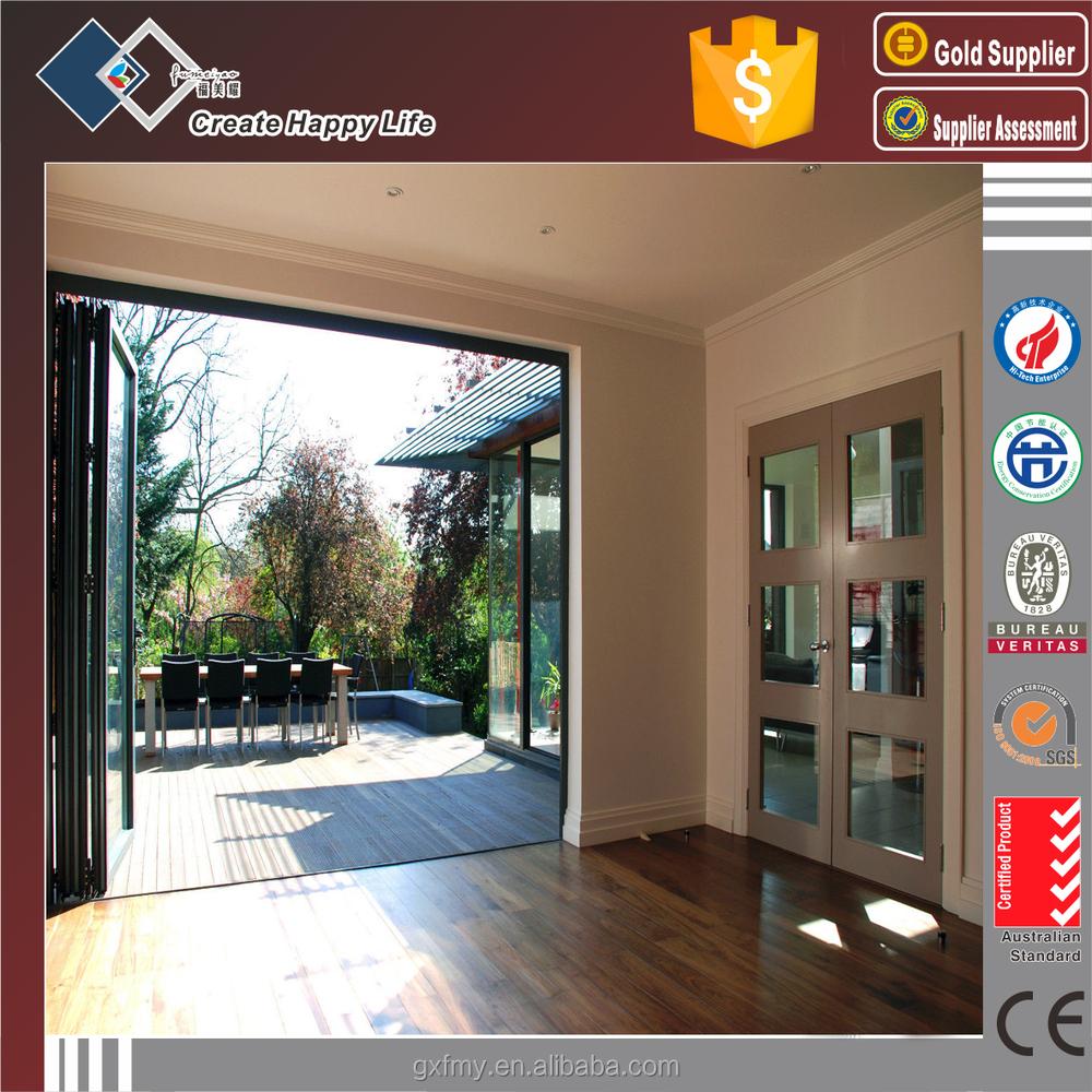 European Style Bi Folding Transpa Gl Garage Doors Aluminium Extrusion