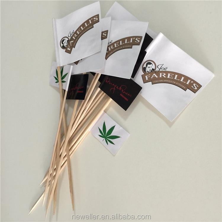 Hot selling special discount fruit toothpick flag with printing