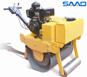 500kg easy to start road roller with heavier body enlarged steel drum(SYL-700C)