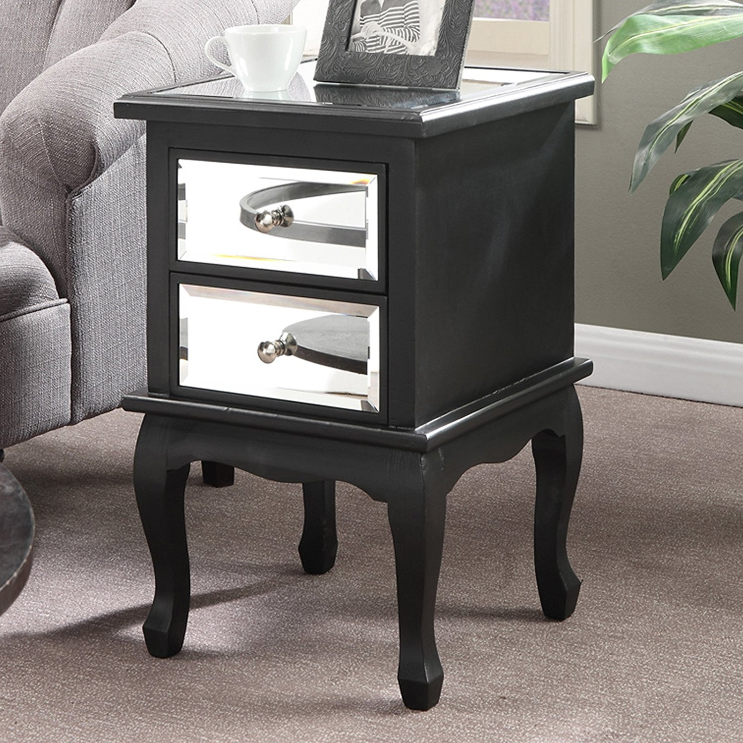 Buy Classy Bedroom And Guest Room Mirrored End Table