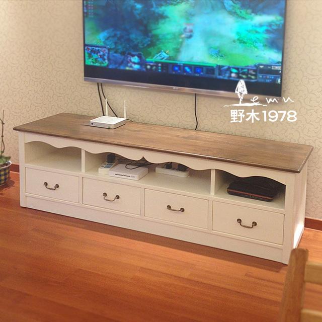 m diterran e minimaliste blanc de meubles en bois de couleur salon meuble tv aigui cara bes. Black Bedroom Furniture Sets. Home Design Ideas