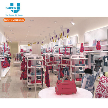 ff2d7806c19 Custom Newest Design Fashionable Baby Clothes Store Design Baby Apparels Shop  Design for Clothes