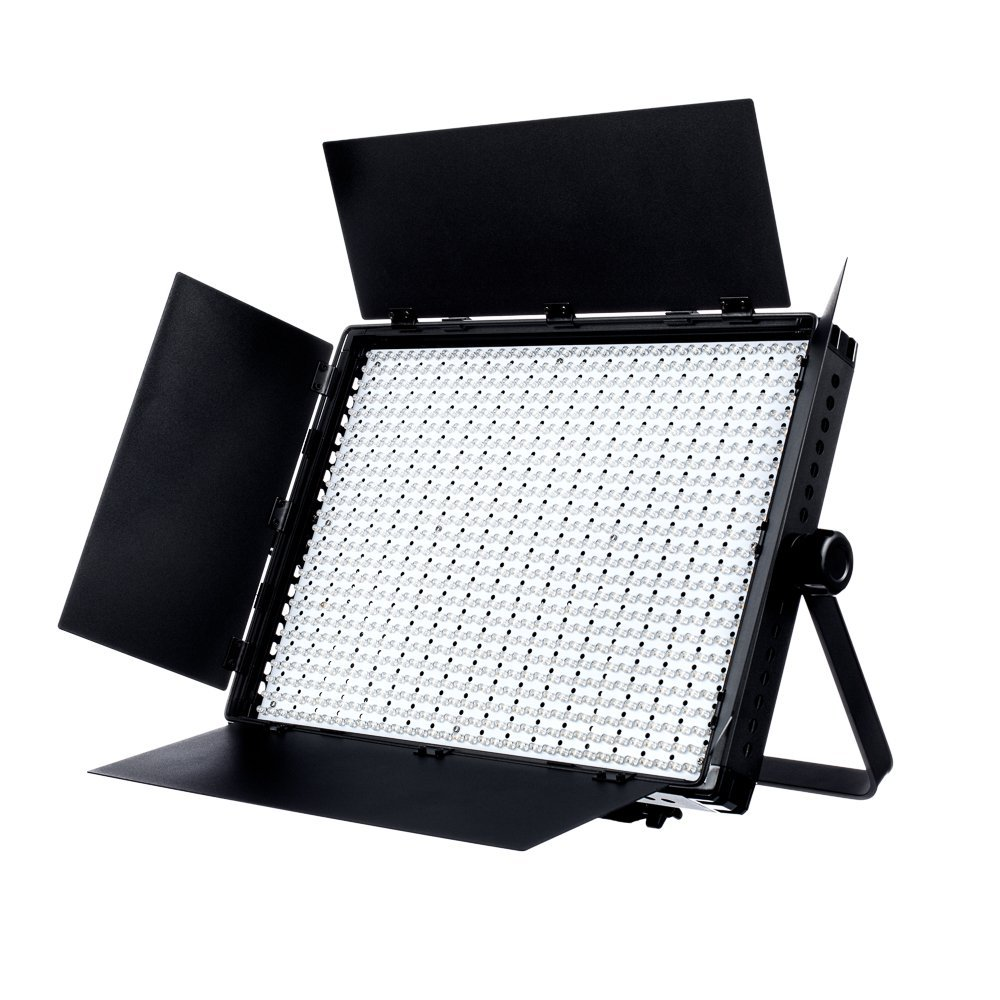 Fovitec - 1x Daylight 900 XD LED Panel w/Barndoor, Filters & Case - [95+ CRI][Continuous Lighting][Stepless Knobs][V-Lock Compatible][5600K]