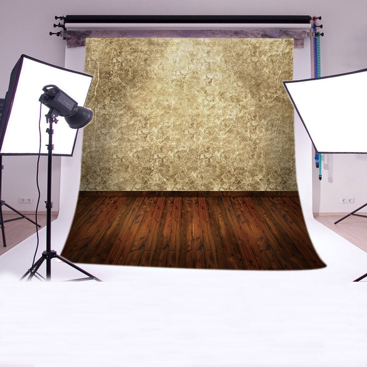Stereoscopic White Wall&Floor 8x8ft Pictorial cloth Photography Backdrop CUSTOMIZED QD13