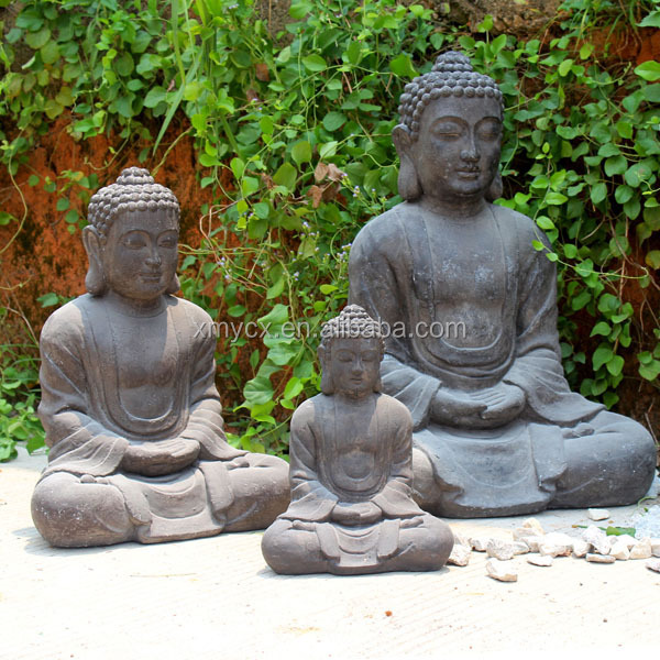 Anti White Garden Buddha Statue Molds For Sale