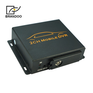 Inexpensive taxi truck cctv system 2CH mini mobile DVR car black box auto recording with 128GB SD card