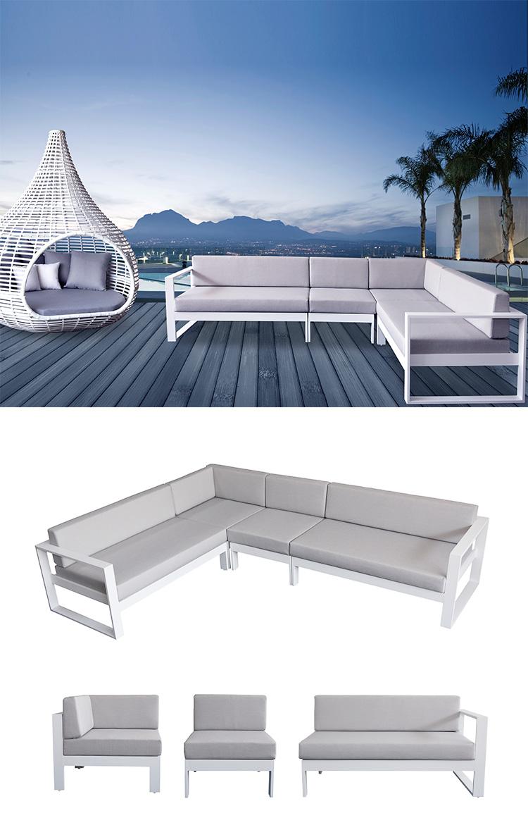 modern garden bench outdoor furniture rattan set power coated sofa sets