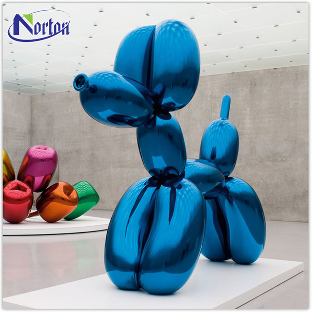 Home Decoration Stainless Steel Art craft Balloon Dog Sculpture for sale NT-SS023K