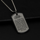 Stainless Steel Islam Quran Scriptures Gift Jewelry Muslim Card Pendant Necklace for men women