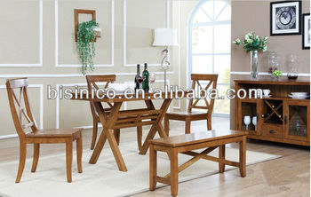 Elegant Country Style Furniture English Dining Room Set Table And Chairs