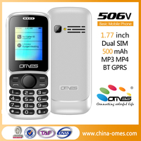 Unlocked GSM Quad Band GPRS Dual SIM Card 1.8 Inch Screen Phones Mobile X506V mobile phones prices in china