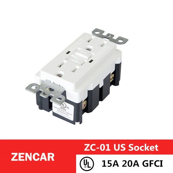 15A 20A GFCI outlet receptacle White American Socket with UL certification