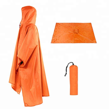 Poncho impermeable con capucha para exteriores